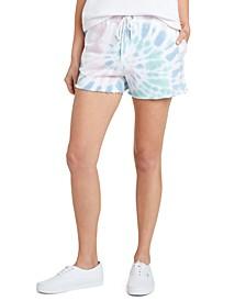 Juniors' Tie-Dyed Drawstring Shorts