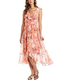 Petite Ruffled High-Low Dress