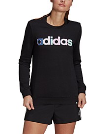 Women's Multi-Color Logo Long Sleeve Top