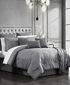 Raddington 14-Pc. Geometric Floral Jacquard Comforter Sets