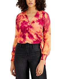Tie-Dye Wrap Top, Created for Macy's