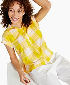 Petite Cotton Camp Shirt, Created for Macy's
