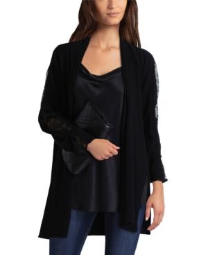 Women's Lace Mix Sweater Cardigan