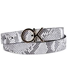 Women's Reversible CK Logo Buckle Belt
