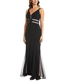 Mesh Cutout Gown