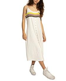Juniors' Cotton Snap-Front Dress