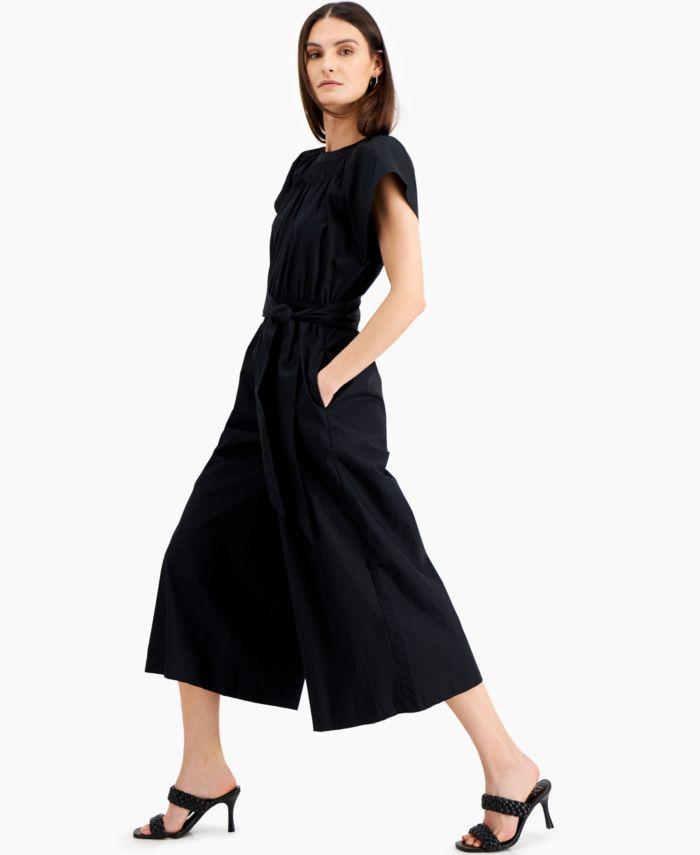 INC International Concepts INC Wide-Leg Cotton Jumpsuit, Created for Macy's & Reviews - Pants & Capris - Women - Macy's
