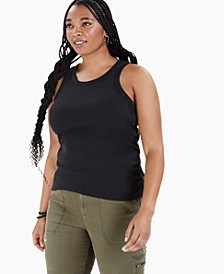 Trendy Plus Size Side-Ruched Tank Top