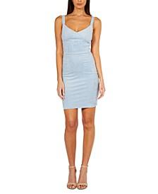 Faux-Suede Bodycon Dress