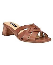 Women's Garnet Block Heel Slide Dress Sandals