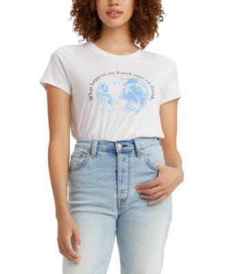 Women's Graphic-Print Surf T-Shirt