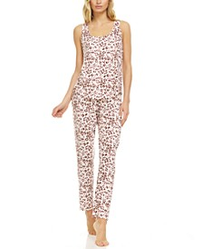 Mary Lace-Trim Tank Top & Pajama Pants Set