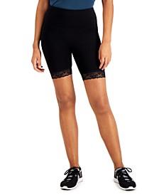 INC Lace-Trim Bike Shorts, Created for Macy's