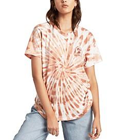 Juniors' Take a Trip Cotton Tie-Dyed T-Shirt