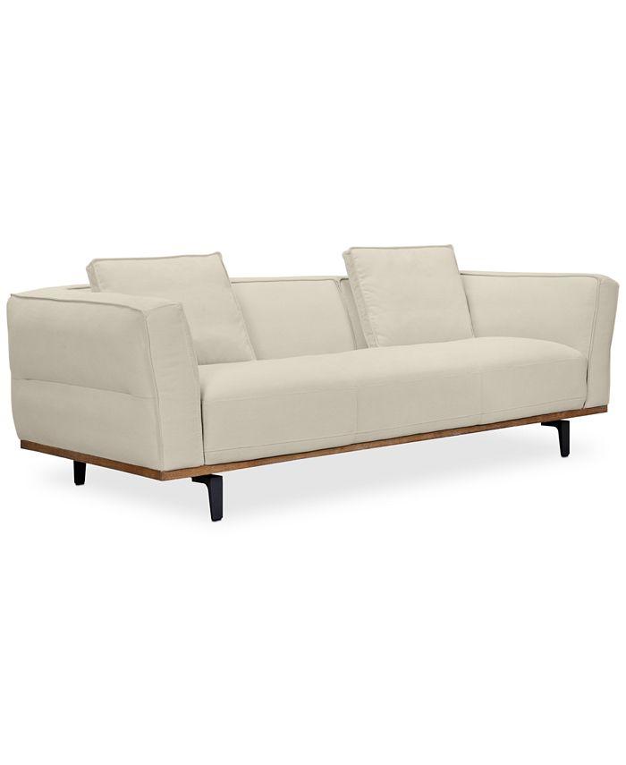 "Furniture - Aubreeze 89"" Fabric Sofa"