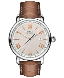 Men's Swiss Automatic Star Legacy Brown Leather Strap 43mm
