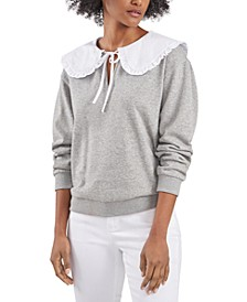 Blake Oversized-Collar Sweatshirt Top, Created for Macy's