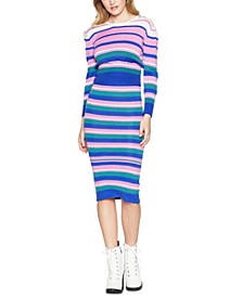 Striped Midi Sweater Skirt