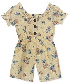 Baby Girls Floral-Print Eyelet Jumpsuit
