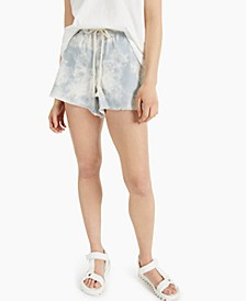 Juniors' Tie-Front Pull-On Shorts