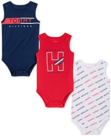 Baby Boys 3-Pack Printed Bodysuits