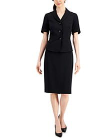 Shawl Collar Skirt Suit