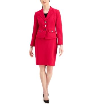 Notched-Lapel Skirt Suit