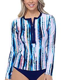 Isla Printed Pullover Rash Guard, Created for Macy's