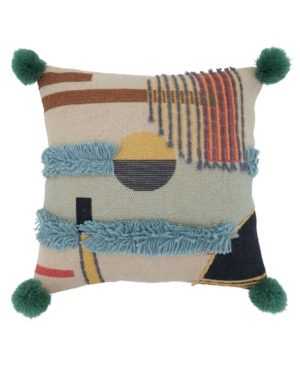 "Saro Lifestyle Pillows EMBROIDERED PILLOW COVER, 18"" X 18"""
