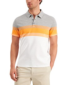 Men's Striped Chest Polo Shirt, Created for Macy's
