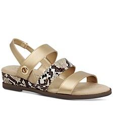 Xeena Three-Strap Slingback Sandals, Created for Macy's