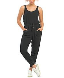 Petite Ribbed-Knit Jumpsuit