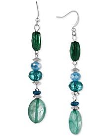 Silver-Tone Beaded Linear Drop Earrings, Created for Macy's