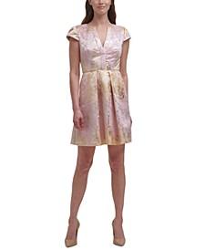 Petite Metallic Mini Dress