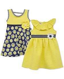 Baby Girls 2-Pack Sunflower Sundresses