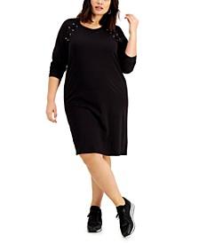 Plus Size Lace up Detail Dress