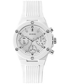 Unisex Pink Silicone Strap Watch 39mm