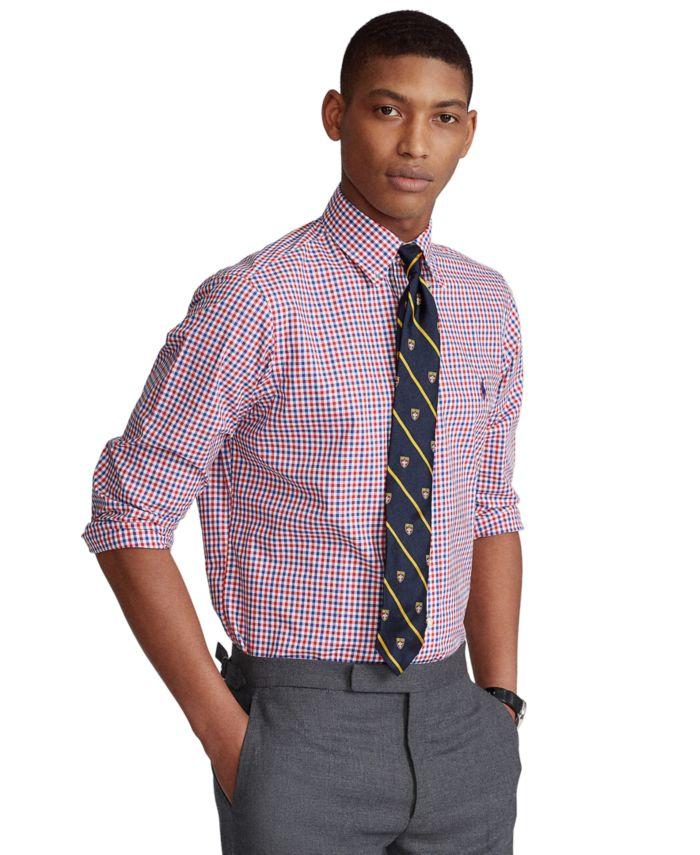 Polo Ralph Lauren Men's Classic-Fit Plaid Poplin Shirt & Reviews - Casual Button-Down Shirts - Men - Macy's