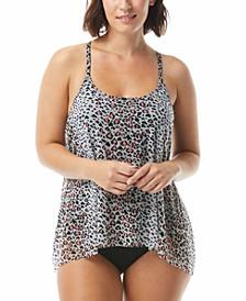 Leopard-Print Bra-Sized Tankini Top & Bottoms