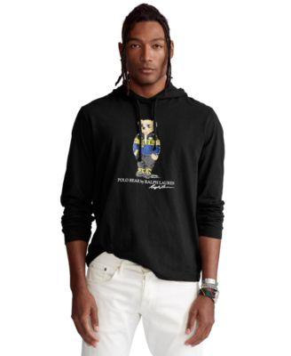Men's Polo Bear Jersey Hooded T-Shirt