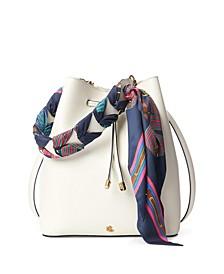 Print-Scarf Debby Drawstring Bag