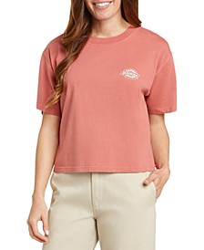 Juniors' Cotton Logo-Graphic Crop T-Shirt
