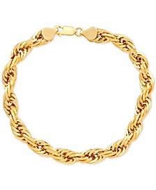 Men's Rope Link Chain Bracelet in 10k Gold