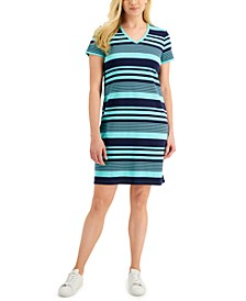 Striped V-Neck Dress, Created for Macy's