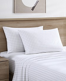 Farmhouse Plaid 4 Piece Queen Sheet Set