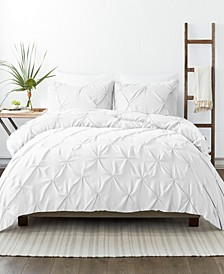 Home Collection Premium Ultra Soft 3 Piece Pinch Pleat Duvet Cover Set, King/California King