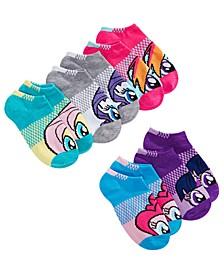 Little Girls 5-Pack No-Show Socks