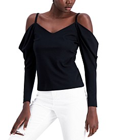 Cold-Shoulder Drape-Sleeve Top, Created for Macy's