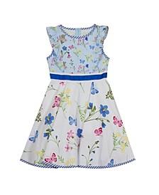 Little Girls Printed Poplin Dress