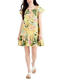 Foliage-Print Dress, Created for Macy's